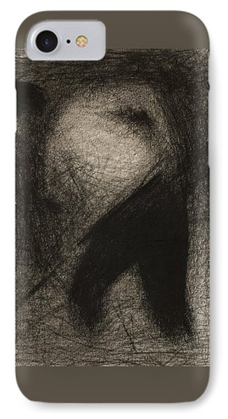 Haymaker Or Stone Breaker IPhone Case by Georges Pierre Seurat