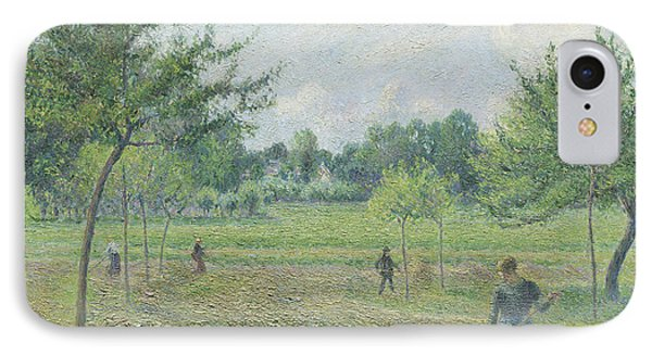 Haymaking At Eragny IPhone Case by Camille Pissarro