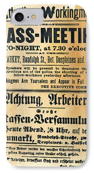 Haymarket Handbill, 1886 Phone Case by Granger