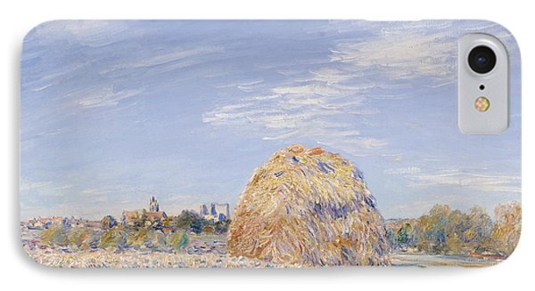 Haystack On The Banks Of The Loing IPhone Case