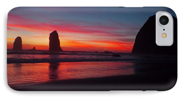 Haystack Rock At Sunset 2 IPhone Case