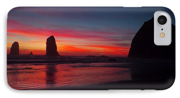 Haystack Rock At Sunset IPhone Case