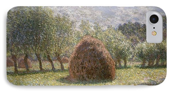 Haystacks At Giverny Phone Case by Claude Monet
