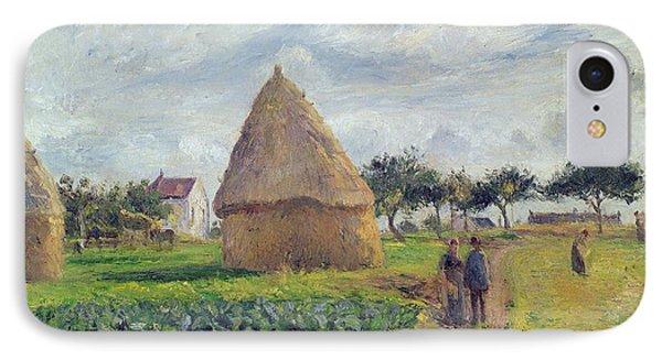 Haystacks Phone Case by Camille Pissarro