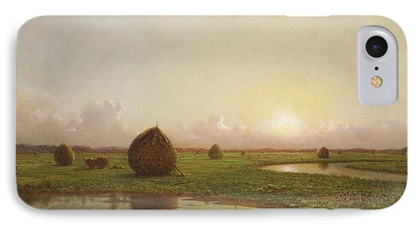 Haystacks IPhone Case by Martin Johnson Heade