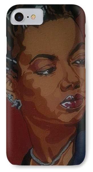 IPhone Case featuring the painting Hazel Scott by Rachel Natalie Rawlins