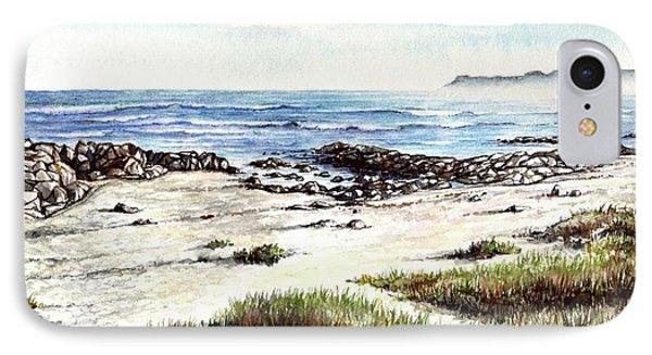 IPhone Case featuring the painting Hazy Coastline by Heidi Kriel