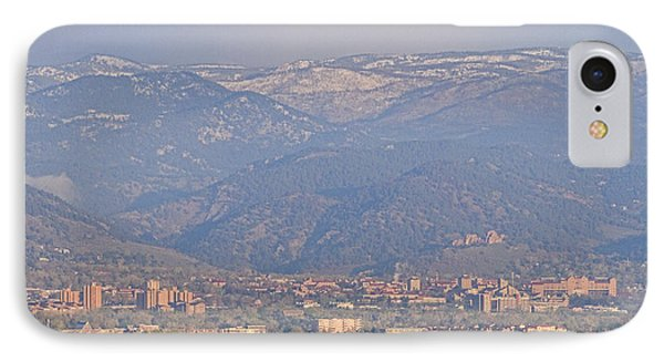 Hazy Low Cloud Morning Boulder Colorado University Scenic View  IPhone Case by James BO  Insogna