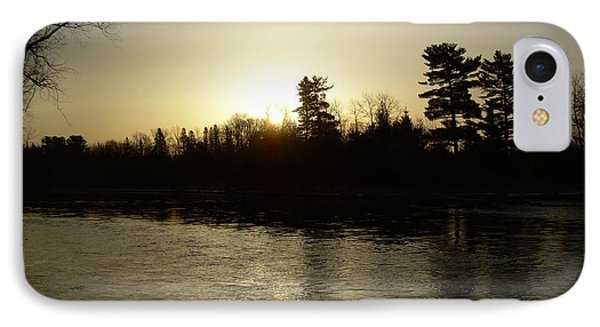 IPhone Case featuring the photograph Hazy Mississippi River Sunrise by Kent Lorentzen