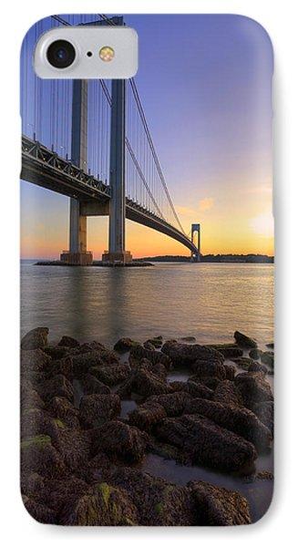 Hdr Verrazano Bridge Sunset Phone Case by Samuel Kessler