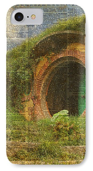 he Bag End Hobbit House Lord of the Rings Shire Illustration Dictionary Art IPhone Case by Jacob Kuch