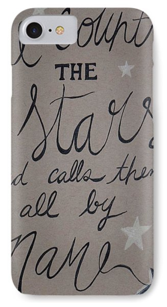 He Counts The Stars IPhone Case