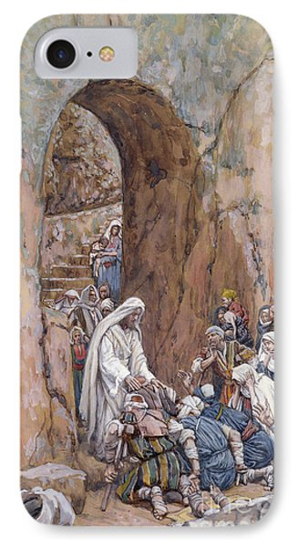 He Did No Miracles Save That He Healed Them Phone Case by Tissot