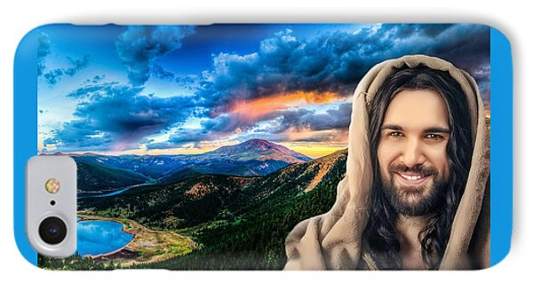He Watches Over Me IPhone Case by Karen Showell