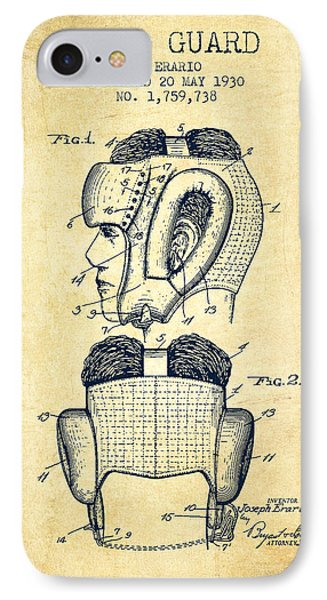 Head Guard Patent From 1930 - Vintage IPhone Case by Aged Pixel