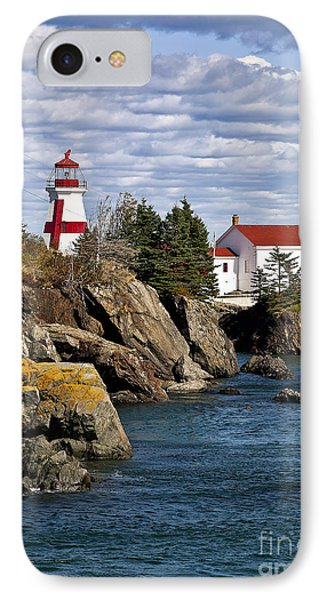 Head Harbour Lighthouse Phone Case by John Greim