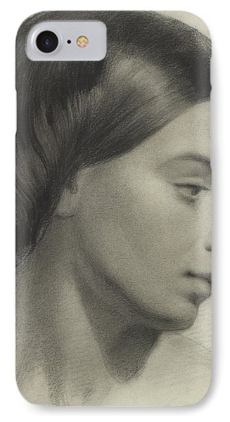 Head Of A Girl Phone Case by Anonymous