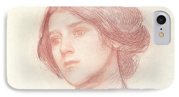 Head Of A Girl Phone Case by John William Waterhouse