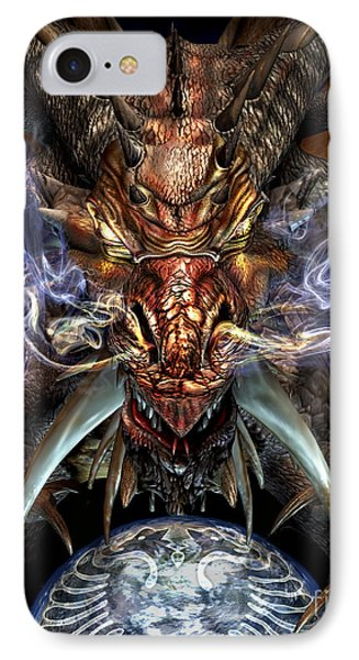 Head Of A Red Dragon IPhone Case by Kurt Miller