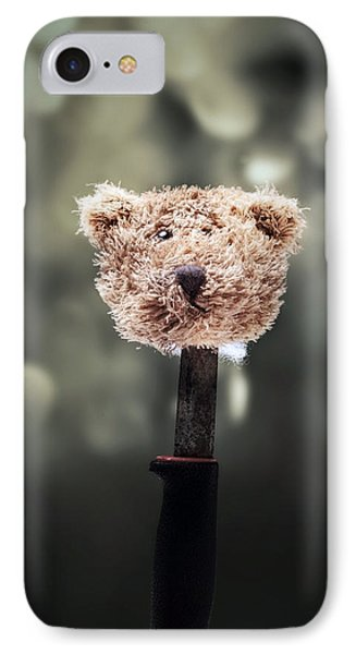 Head Of A Teddy IPhone Case by Joana Kruse