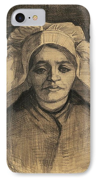 Head Of A Woman, 1885 02 IPhone Case by Vincent Van Gogh