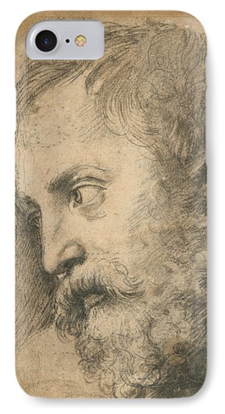 Head Of An Apostle In The Transfiguration IPhone Case by Raphael