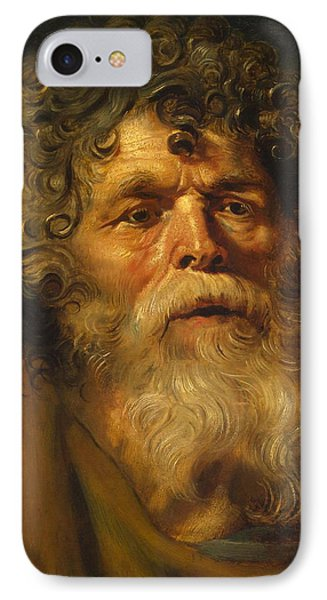 Head Of An Old Man IPhone Case by Peter Paul Rubens