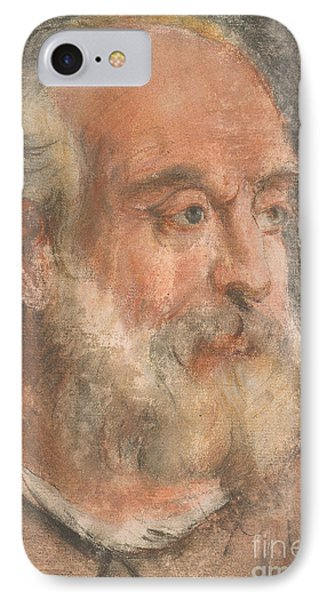 Head Of An Old Man With White Beard IPhone Case by MotionAge Designs