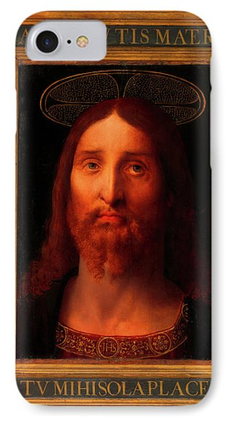 IPhone Case featuring the painting Head Of Christ                                   by Fernando De La Almedina