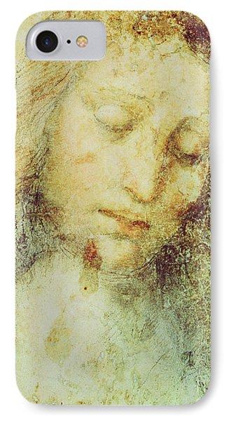 Head Of Christ IPhone Case by Leonardo Da Vinci