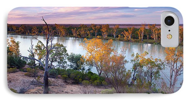 IPhone Case featuring the photograph Heading Cliffs Murray River South Australia by Bill Robinson