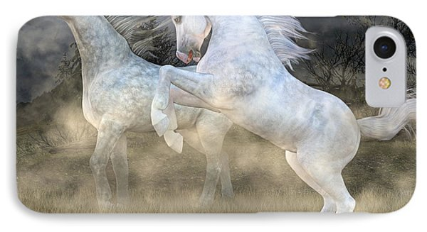 Headless Horseman Haunting On The Hill IPhone Case by Betsy Knapp