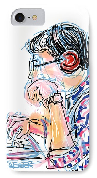 Headphones And Laptop IPhone Case by Robert Yaeger