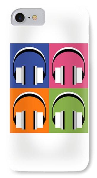 Headphones In Bright Colours IPhone Case