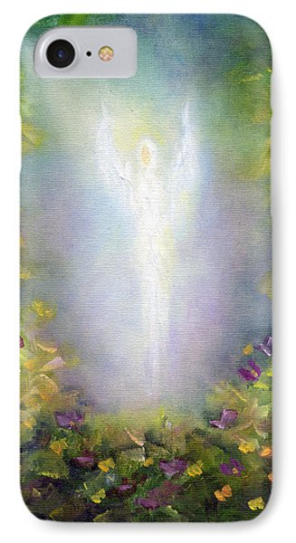 IPhone Case featuring the painting Healing Angel by Marina Petro