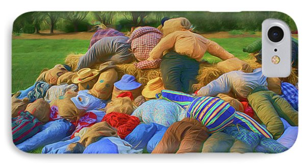 IPhone Case featuring the photograph Heap Of Scarecrows by Nikolyn McDonald