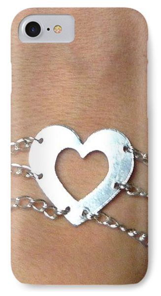 Heart Bracelet IPhone Case by Sarah B