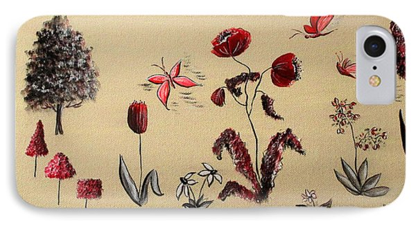 Heart Cottage Red 3 IPhone Case by Kathy Spall
