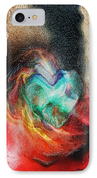IPhone Case featuring the digital art Heart Deep by Linda Sannuti