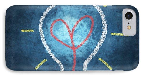 Heart In Light Bulb IPhone Case by Setsiri Silapasuwanchai
