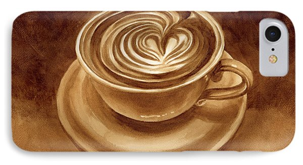 Heart Latte IPhone Case by Hailey E Herrera