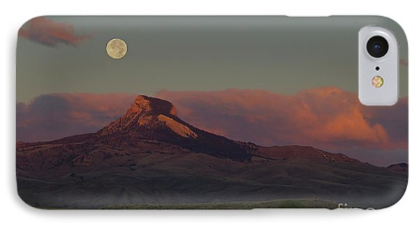 Heart Mountain And Full Moon-signed-#0273  #0273 IPhone Case by J L Woody Wooden