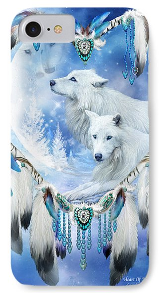 Heart Of A Wolf 4 IPhone Case by Carol Cavalaris