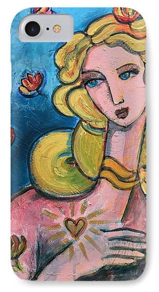 IPhone Case featuring the painting Heart Of Venus by Laurie Maves ART
