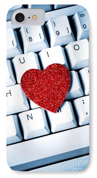 Heart On Keyboard IPhone Case