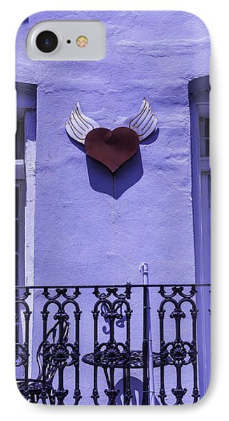 Heart On Wall Phone Case by Garry Gay