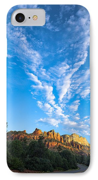 Heart Rising Over Sedona IPhone Case by A O Tucker