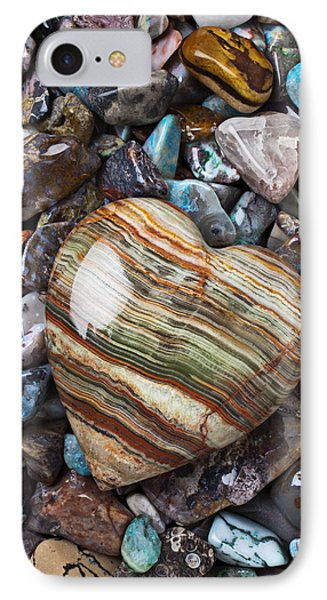 Heart Stone Phone Case by Garry Gay