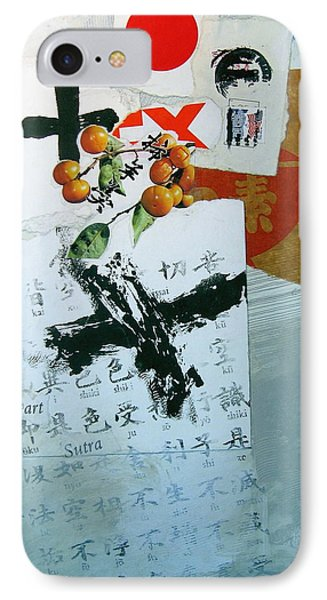 Heart Sutra Phone Case by Cliff Spohn
