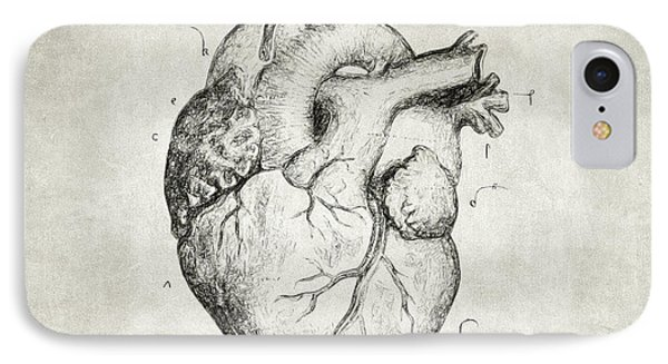 IPhone Case featuring the drawing Heart by Taylan Apukovska